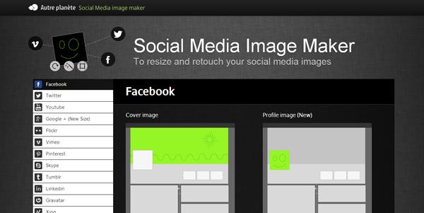 Social Media Image Maker homepage