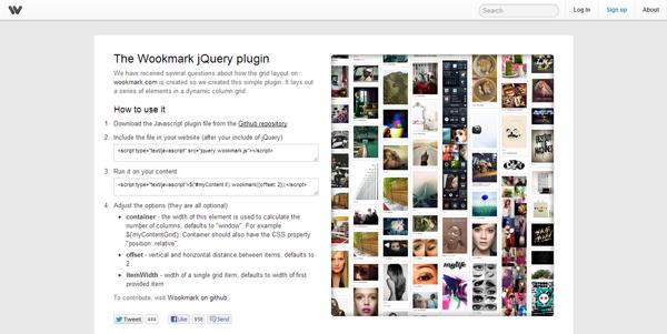 Wookmark jQuery Plugin