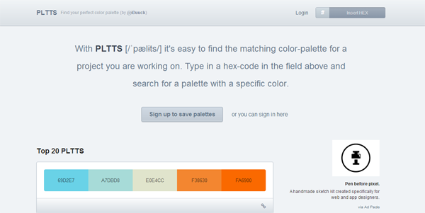 PLTTS - Find your colour palette