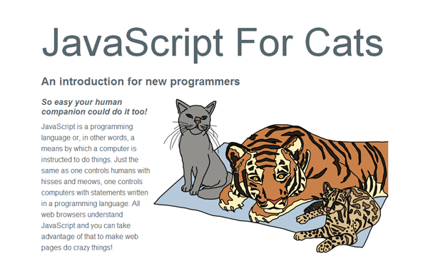 Una guida insolita: JavaScript For Cats