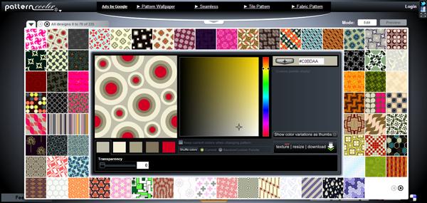 Creare patterns da usare come sfondo