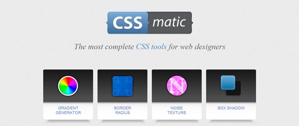 Strumenti per il Web Designer: CSS Matic