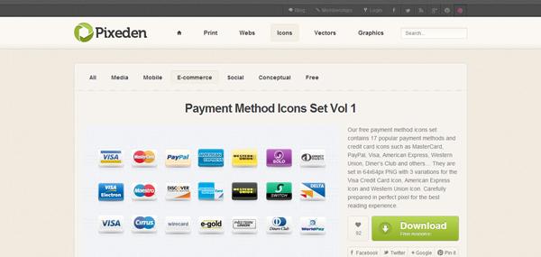 Icone per i metodi di pagamento